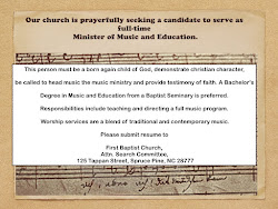 In Search Of Full-Time Minister of Music and Education and volunteer opportunities (click on Pic)