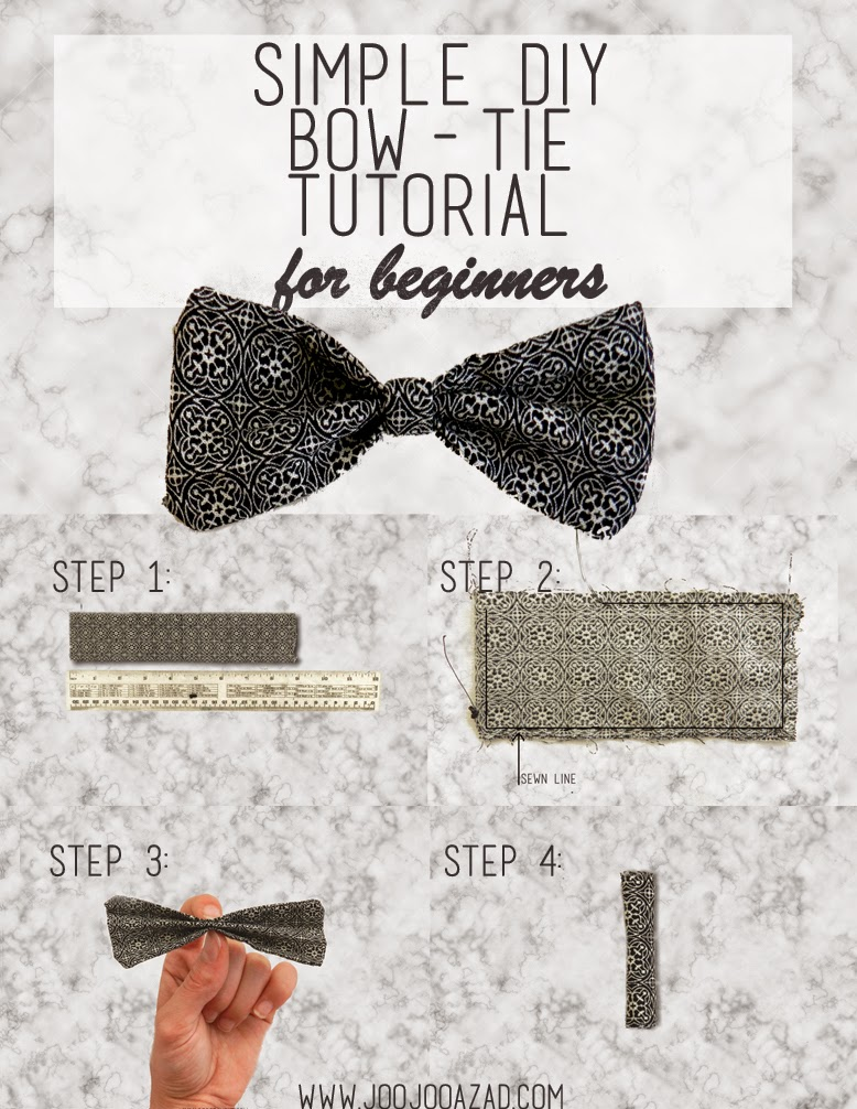 Bow tie tutorial, easy diy bow, beginner bow tie diy, beginner diy