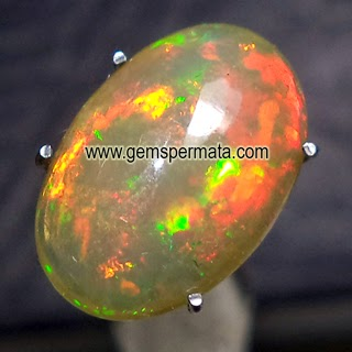 toko batu permata, Batu Permata Brown Opal Kalimaya