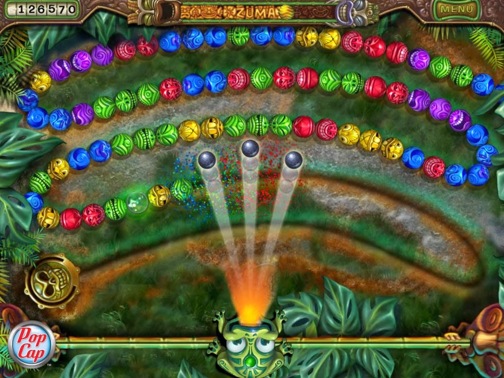 In the sequel to the original ballblasting classic shoot colored balls from your stone frog idols mouth to make sets of three but dont let the balls reach the golden skull!