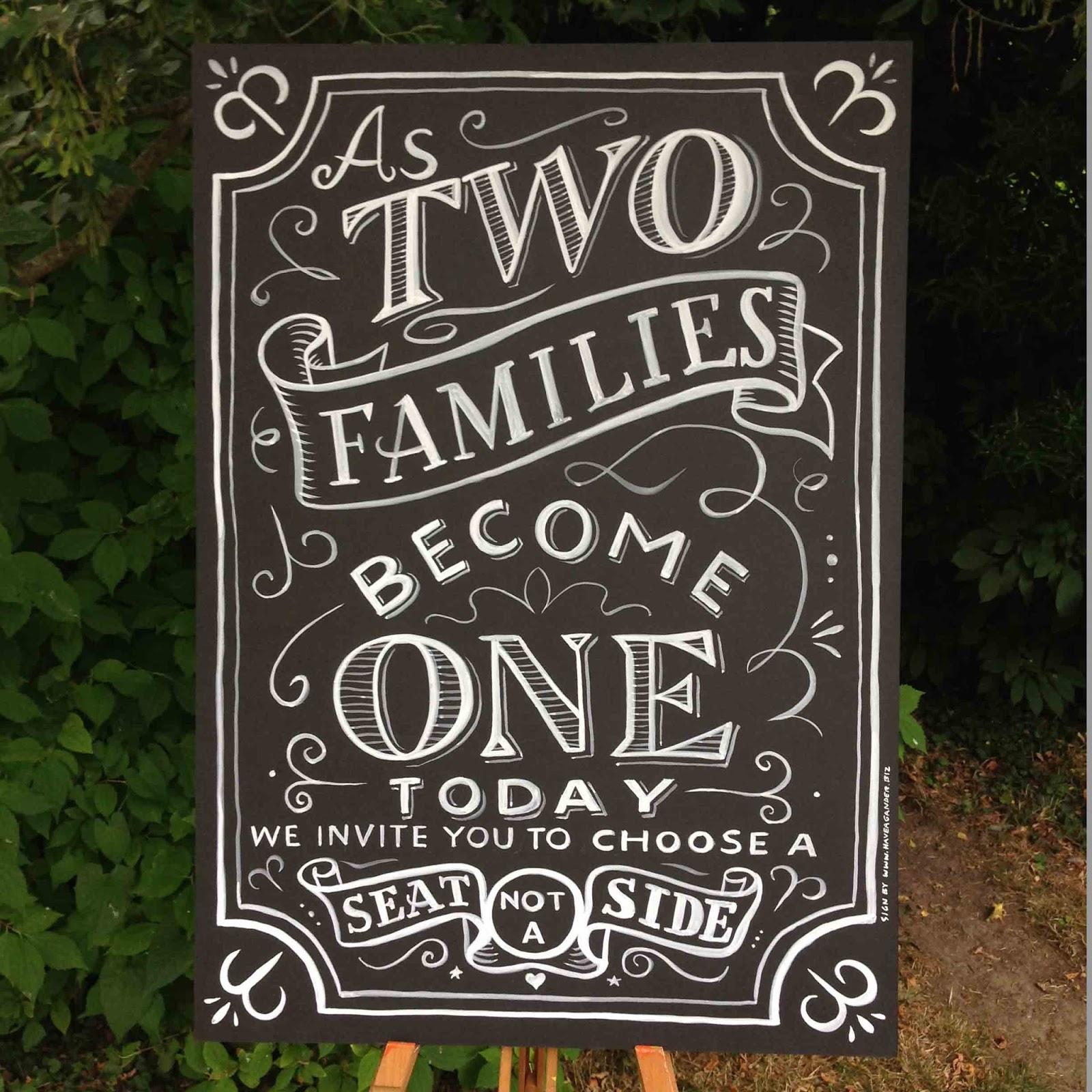 Peter gander fine art blackboard for rosie s wedding