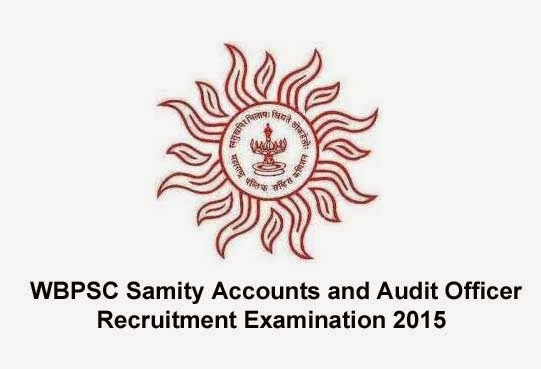 WBPSC Samity Accounts and Audit Officer Recruitment Examination 2015