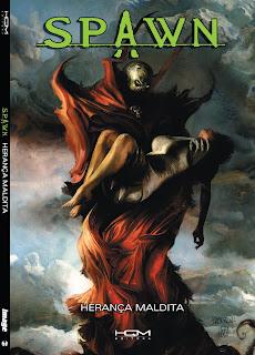 Capa do encadernado Spawn - Herança Maldita, da HQM Editora