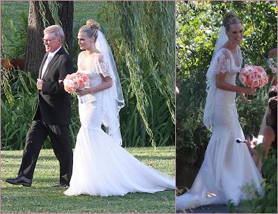Molly Sims Wedding Gown Photos
