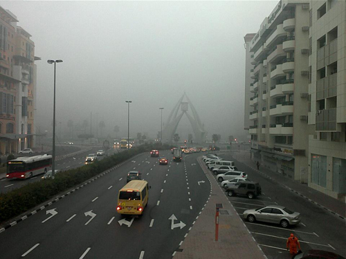 How to drive in Dubai Fog?