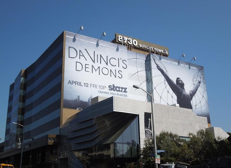 Da Vincis Demons series premiere Starz billboard