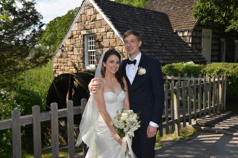 Stony Brook Grist Mill - Bride and Groom