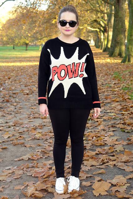 cartoon fashion jumper POW!