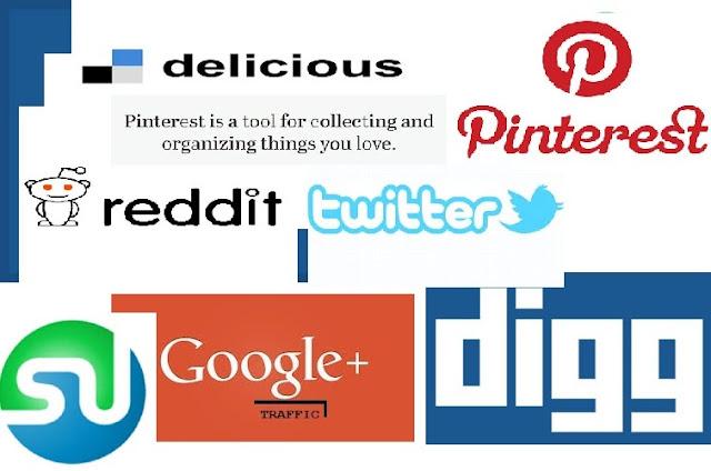 Social Media buttons, Social media icons