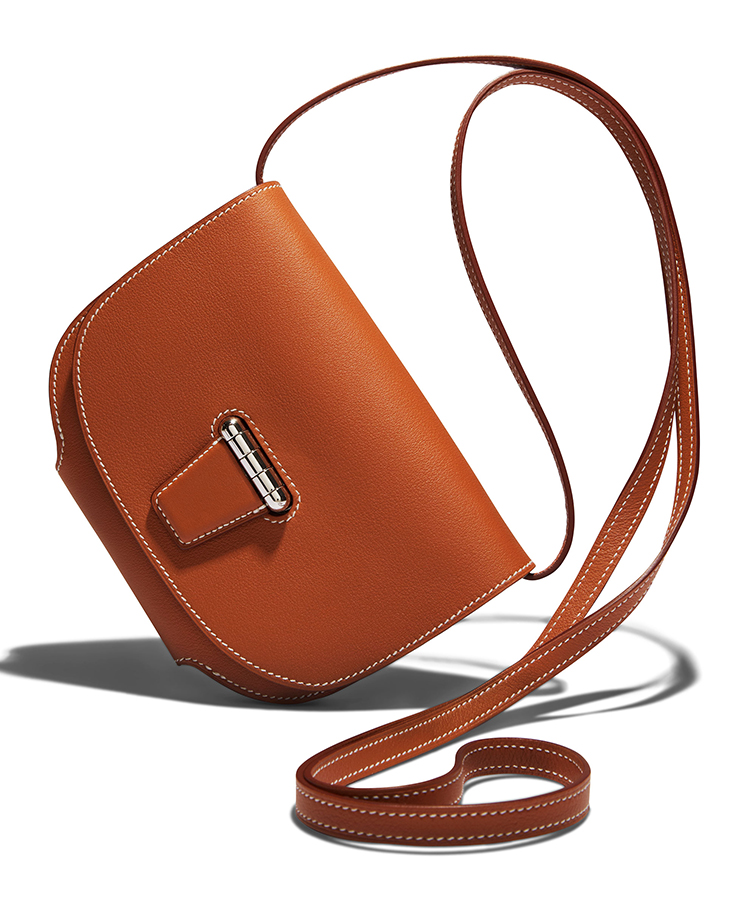 Hermès mini Convoyeur leather shoulder bag