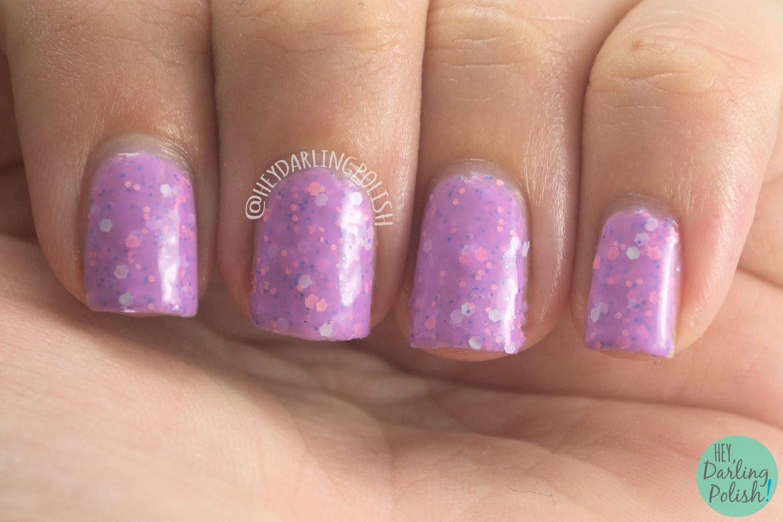 summer fling, thermal, purple, glitter, nails, nail polish, indie polish, indie nail polish, live life polished, hey darling polish, farewell summer,