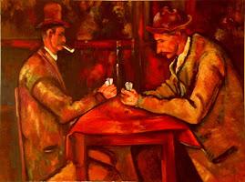 """Reproducción """"Los jugadores de Naipes"""" de Cezanne"""