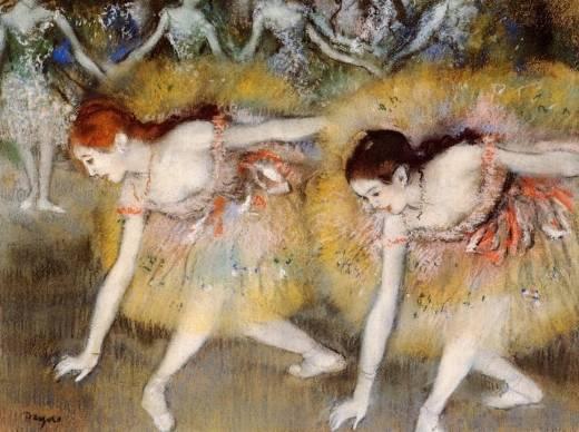 Famous Painting Ballerina Degas