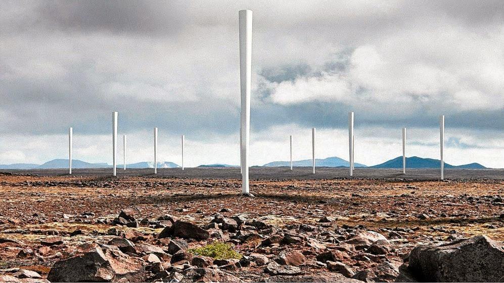 Molinos de viento sin aspas