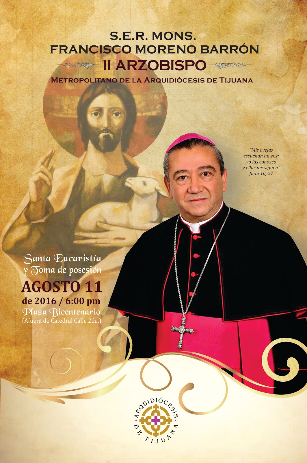 Evento católico de bienvenida