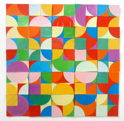 kate mackay, one and the same, paper, cardboard, factory 49, abstract geometric