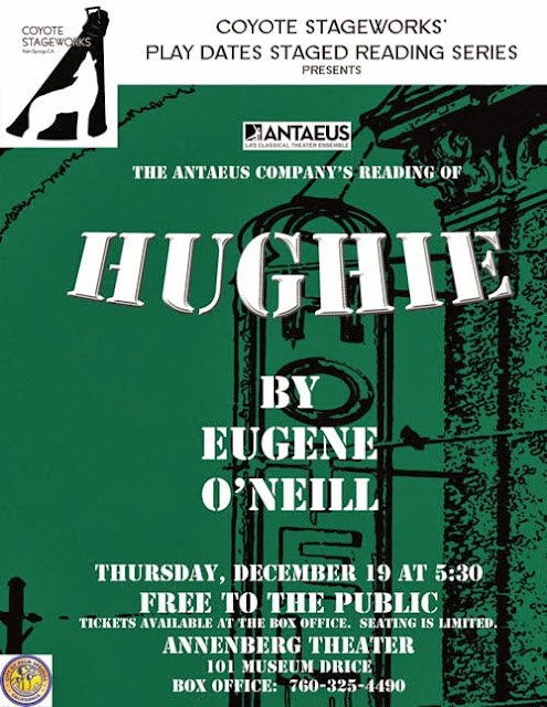 poster - COYOTE STAGEWORKS The Antaeus Company's reading of HUGHIE - FREE TO THE PUBLIC @PSArtMuseum