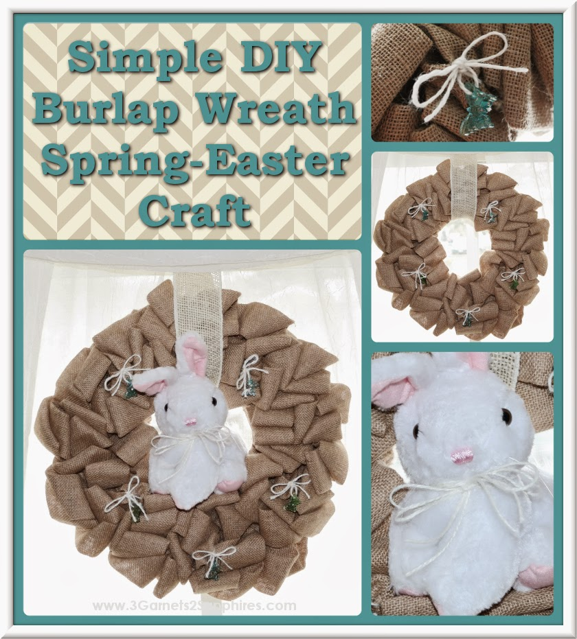 Easy DIY Convertible Spring to Easter Burlap Wreath #SpringCrafts #EasterCrafts