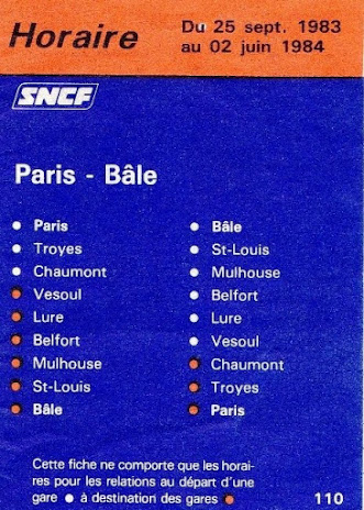 LIGNE PARIS/BALE - archives