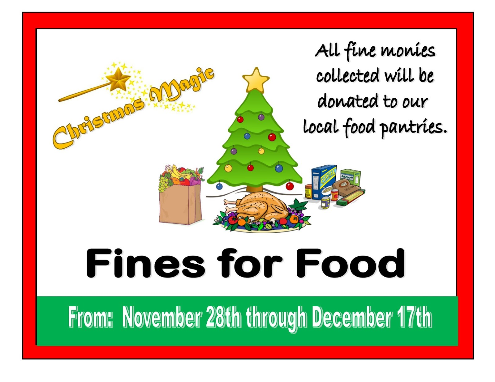 Fines for Food