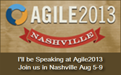 I'll be speaking at Agile 2013!