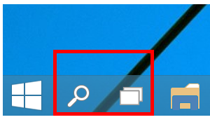 Ẩn search bar và Task View trong Windows 10