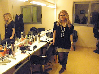 backstage at star channel &#39;&#39;   &#39;&#39;tv show , invited as a fashion blogger