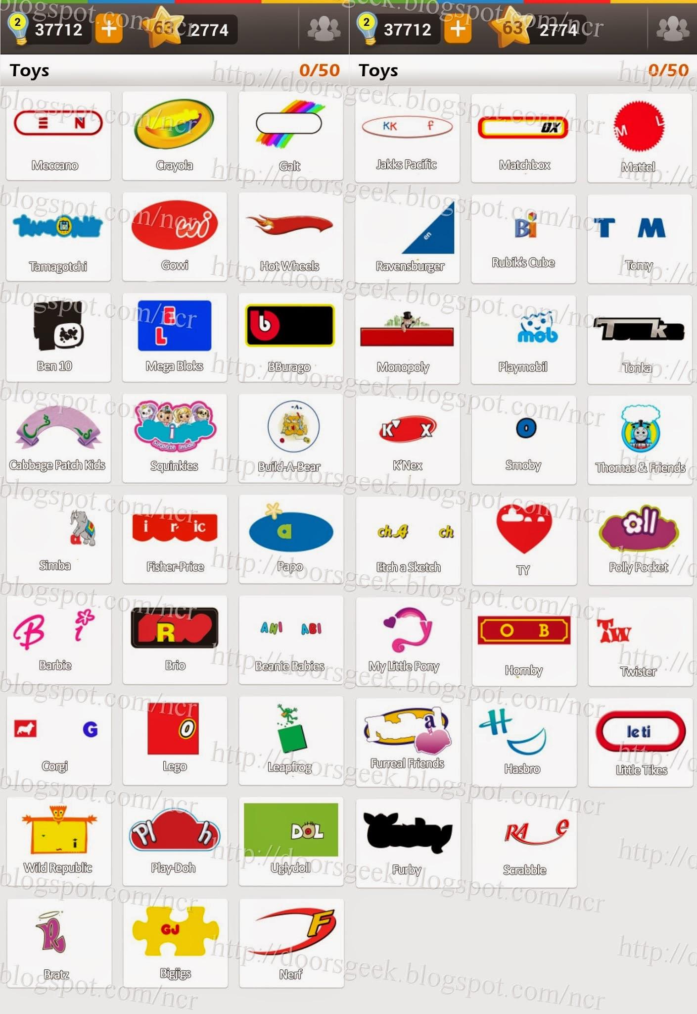 Logo Game: Guess the Brand [Bonus] Toys ~ Doors Geek: http://doorsgeek.blogspot.com/2014/05/logo-game-guess-brand-bonus-toys.html
