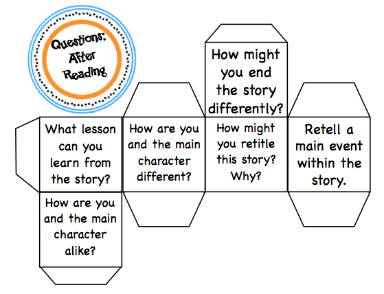 Tally Tales: Read and Roll! Reading Response Question Cubes