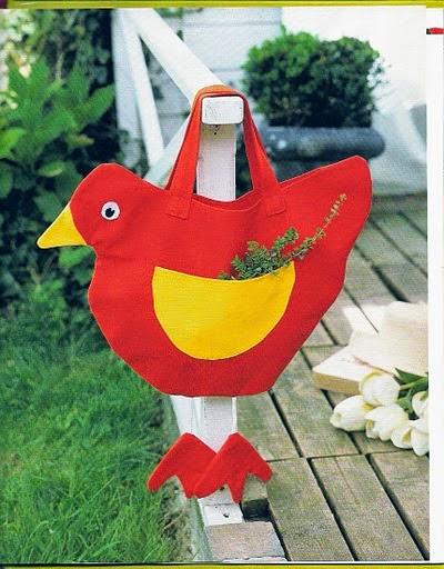 Bolsinha de galinha com molde