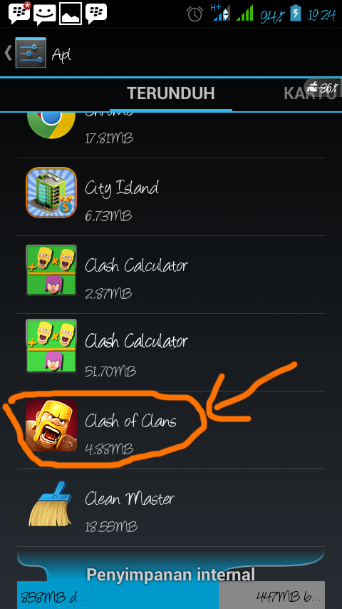 how to delete data clash of clans