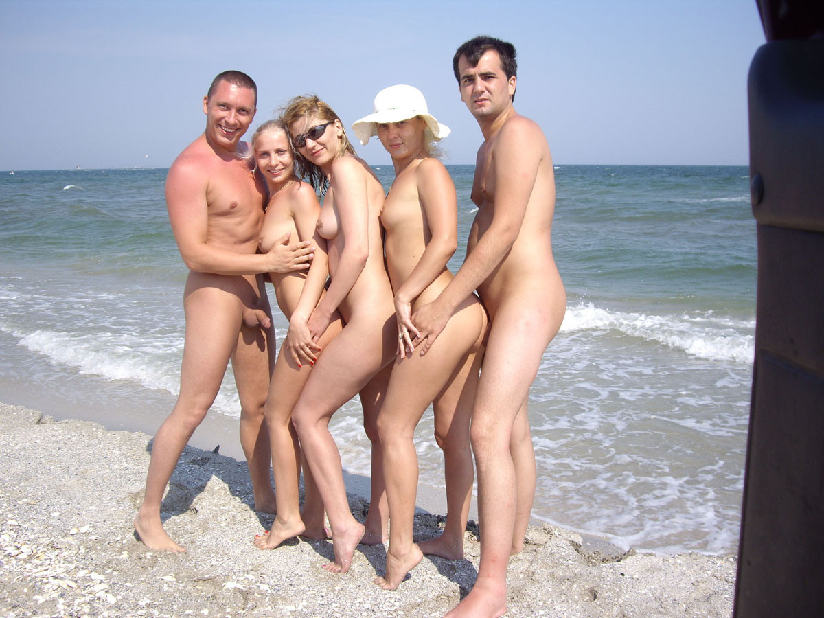 Nudist couple nude camp