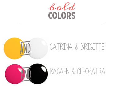 Bold Nail Polish Color Combinations