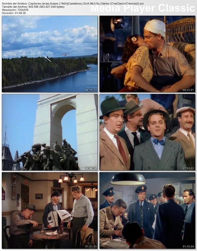 Imagenes de la película: Capitanes de las nubes  1942