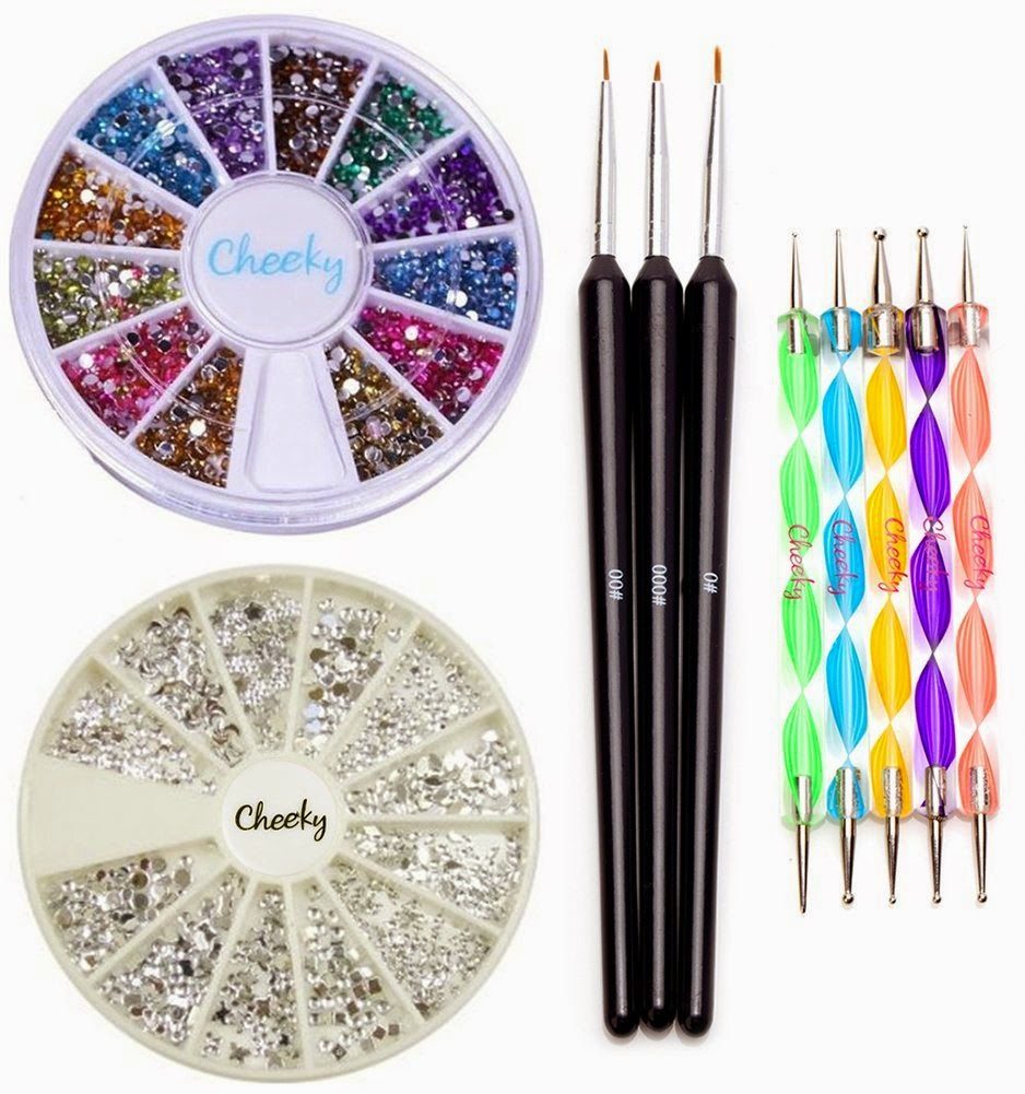 Savvy Spending: Amazon: Nail Art Kit with Gems, Brushes, Dotting ...