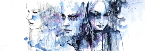 17-Waves-To-and-Fro-Silvia-Pelissero-agnes-cecile-Watercolor-and-Oil-Paintings-Fading-and-Appearing-www-designstack-co