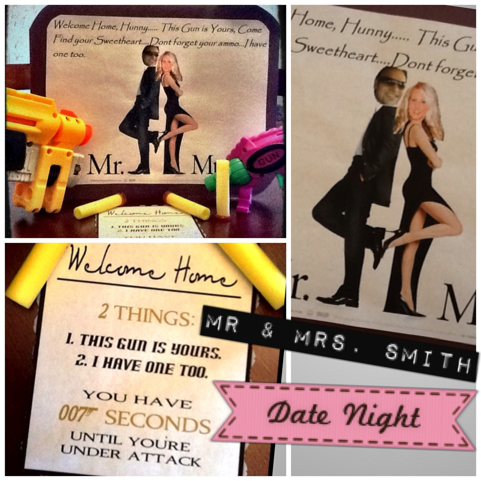 Sarah with an H: Mr. & Mrs. Smith; Date Night