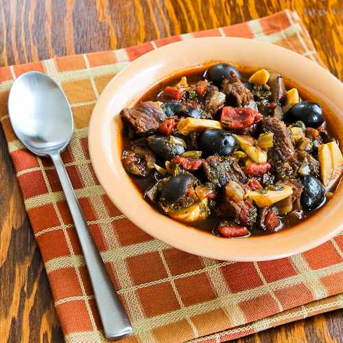 Slow Cooker Mediterranean Beef Stew with Rosemary and Balsamic Vinegar
