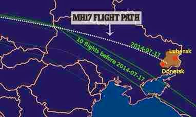 Flight path of MH-17