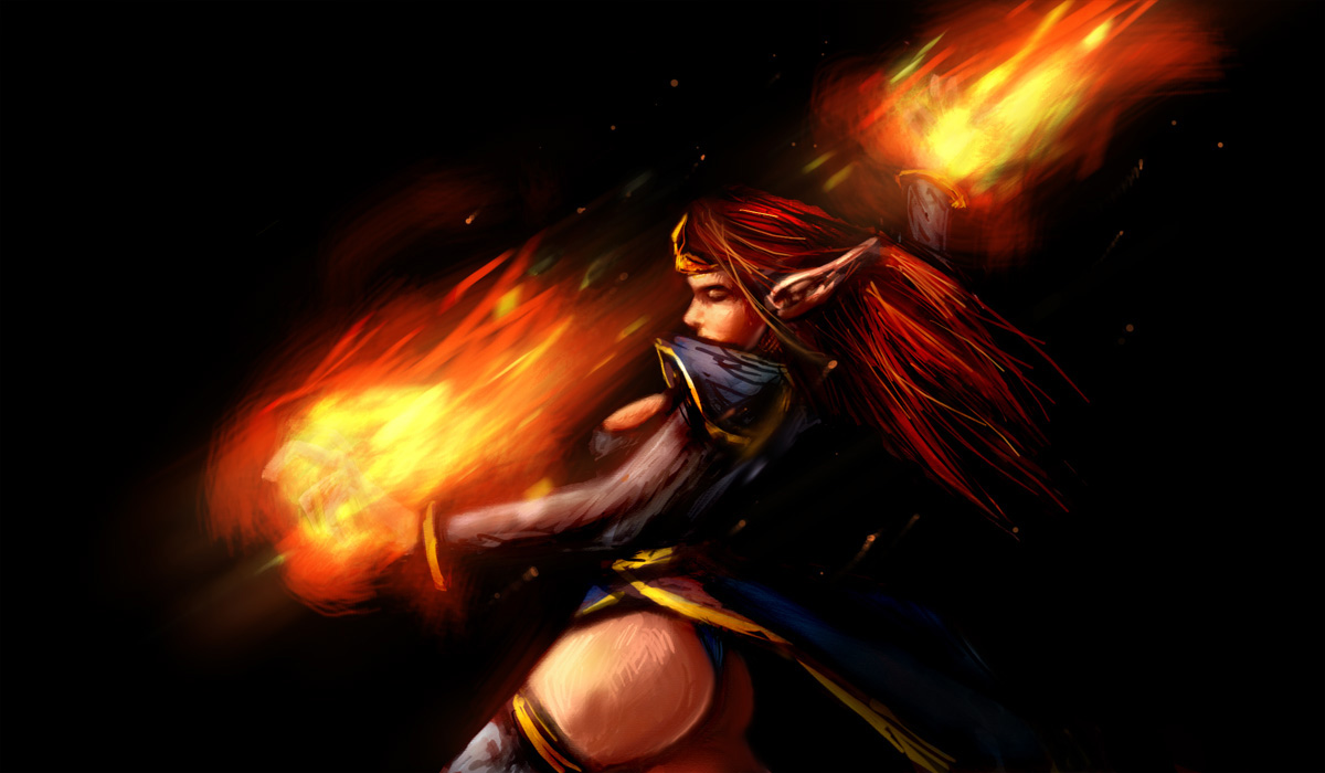 lina inverse the slayer dota wallpaper top dota wallpapers