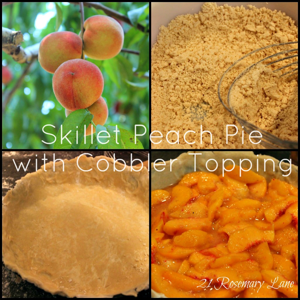 21 Rosemary Lane Skillet Peach Pie With A Cobbler Topping