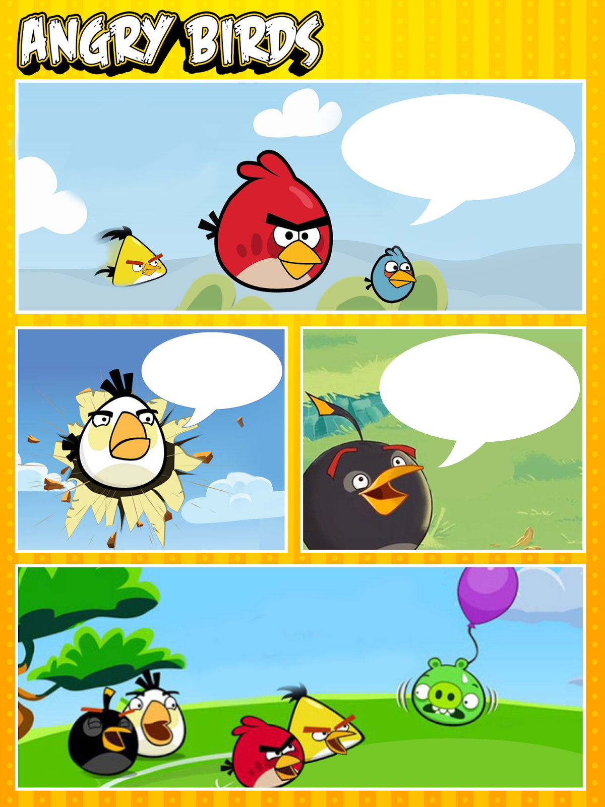 So Original Angry Birds Free Printable Invitations, Frames or ...