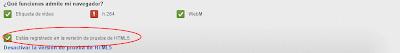 Imagen de la activación del reproductor de HTML5 de youtube