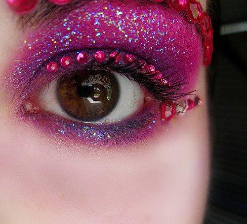 Pink fairy eye makeup