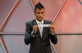 neymar estuvo en el sorteo para el mundial