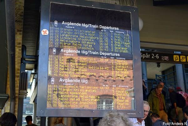 försenade tåg, tåginformation, tågstrul, tågstopp, lund, malmö, skåne, hässleholm, kristianstad, informationstavla, järnvägsstation, tågtider