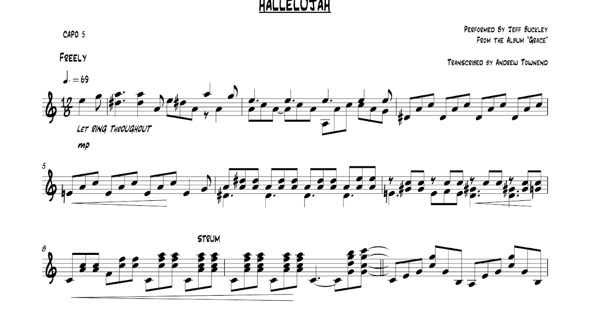 Guitar Lessons Hertfordshire Hallelujah Jeff Buckley