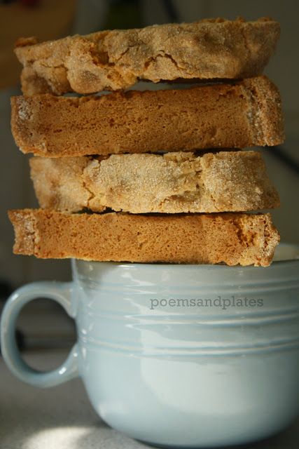 Vanilla and almond biscotti