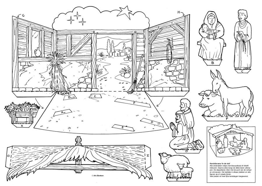 Láminas para imprimir y montar maquetas de navidad | Compartiendo Aula