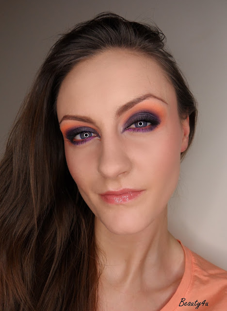 Make up - Black purple with orange ;)